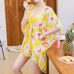 Sweet Splash - Set: Bikini + Floral Print Cover-Up