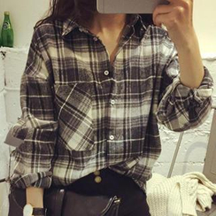Dute - Plaid Oversized Shirt