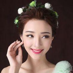 minako - Flower Bridal Headpiece