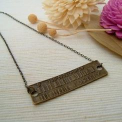 MyLittleThing - Barcode Necklace