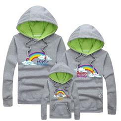 Panna Cotta - Family Matching Rainbow Print Hoodie