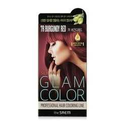The Saem - Silk Hair Glam Color Cream (#7R Burgundy Red)