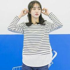 DK Yannie - Striped Long Sleeve T-Shirt