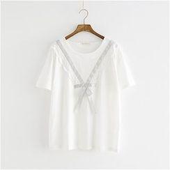Storyland - Short-Sleeve Ribbon-Accent T-Shirt