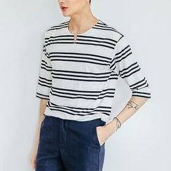DANGOON - 3/4-Sleeve Stripe T-Shirt