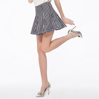O.SA - Houndstooth A-Line Skirt