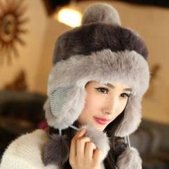 Cheza - 亲子毛绒边护耳帽