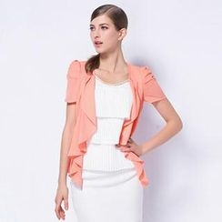 O.SA - Mock Two-Piece Ruffled Jacket