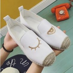 BAYO - Eyes Embroidered Espadrille Slip-Ons