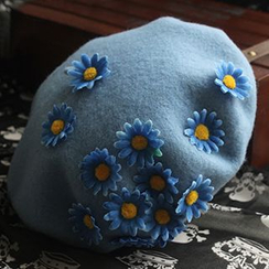 EVEN - Floral Applique Beret