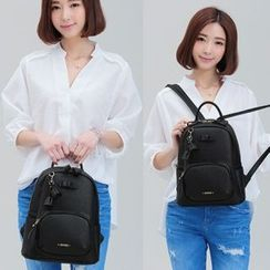 Axixi - Faux-Leather Backpack