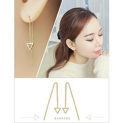 soo n soo - Triangle Threader Earrings