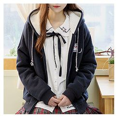 Sechuna - Fleece-Lined Zip-Up Hoodie