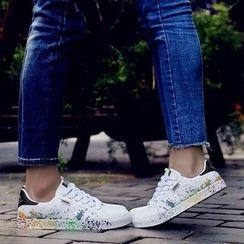 MARTUCCI - Paint Splattered Mesh Panel Sneakers