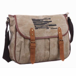 Miss Sweety - Canvas Buckled Messenger Bag