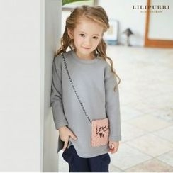 LILIPURRI - Girls Pocket-Front Brushed-Fleece Lined Pullover