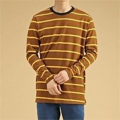THE COVER - Round-Neck Color-Block T-Shirt