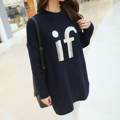 CLICK - Lettering Print Sweater