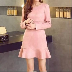 Neeya - Long-Sleeve Frilled Dress