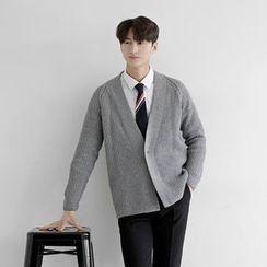 Seoul Homme - Shawl-Collar Cardigan