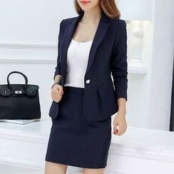 Q.C.T - Set: Plain Blazer + Dress