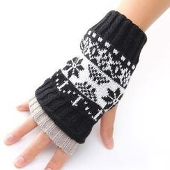 Nirvana Nation - Nordic Pattern Fingerless Gloves