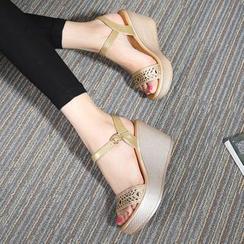 Hannah - Wedge Platform Sandals