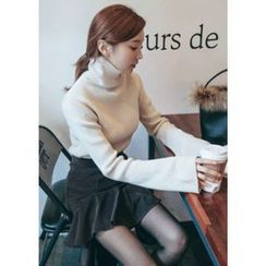 Chlo.D.Manon - Turtle-Neck Bell-Sleeve Knit Top