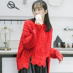 DK Yannie - Cable-Knit Sweater