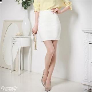 Romantic Factory - High-Waist Pencil Skirt