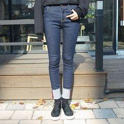 Envy Look - Brushed-Fleece Lined Skinny Jeans