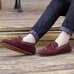 Preppy Boys - 格紋莫卡辛鞋