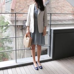 WITH IPUN - Notched-Lapel Single-Breasted Linen Jacket