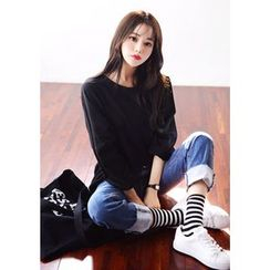 DEEPNY - Drop-Shoulder Long-Sleeve T-Shirt
