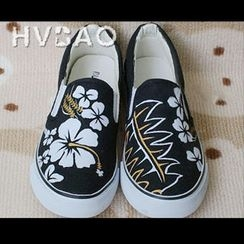 HVBAO - 'Flowers In Bloom' Canvas Slip-Ons