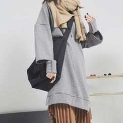 Sonne - Cutout-Cuff Hooded Long Pullover