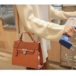 Beloved Bags - Faux Suede Panel Handbag