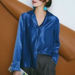 SUYISODA - Satin Long-Sleeve Shirt