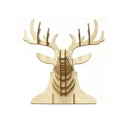 Team Green - Plywood Puzzle - Deer