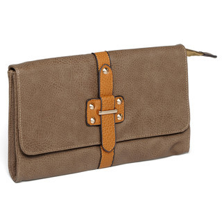 YesStyle Bags - Buckle-Accent Studded Clutch
