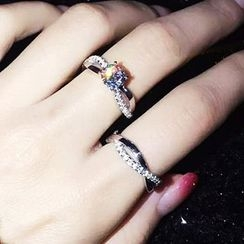 Nanazi Jewelry - Set of 2: Rhinestone Ring