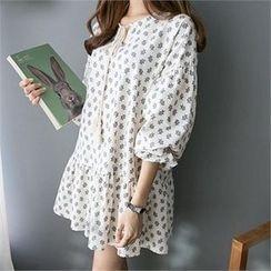 PIPPIN - Tasseled Patterned Mini Dress