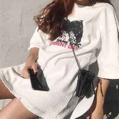 Cloud Nine - Oversized Print T-Shirt
