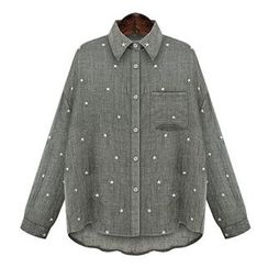 Flobo - Long-Sleeve Star Print Shirt