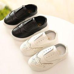 綠豆蛙童鞋 - 小童真皮輕便鞋