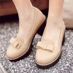 Sidewalk - Bow Block Heel Pumps