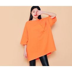 HOTPING - Round-Neck Loose-Fit Top