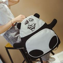 Pandabada - Panda Print Canvas Backpack