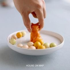 house on map - Animal Plate