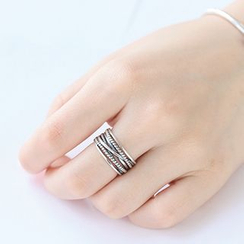 Blinglitz - Twist Open Ring
